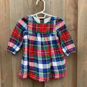 Baby Gap Plaid Long Sleeve Dress